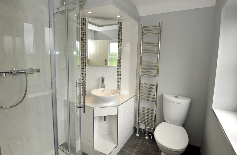 Shower Room Interior Design in Potten End by Sarah Maidment Interiors, Berkhamsted, St. Albans, Hertfordshire