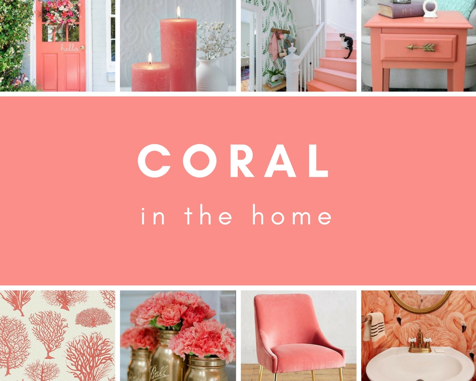 Coral Moodboard created by Sarah Maidment, Interior Designer in Berkhamsted, St. Albans, Herts