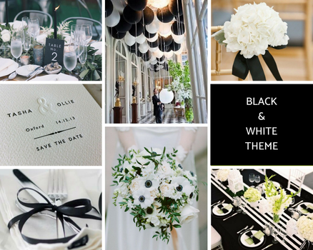 Black and White Theme Moodboard - created by Sarah Maidment, interior design services in Berkhamsted, St. Albans, Herts