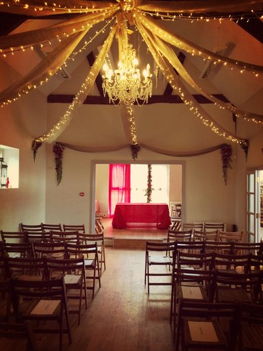 Ceremony Set Up styled by Sarah Maidment, interior designer, St. Albans, Herts