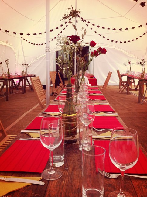 Marquee styled by Sarah Maidment Interiors, interior designer in Berkhamsted, St. Albans, Herts